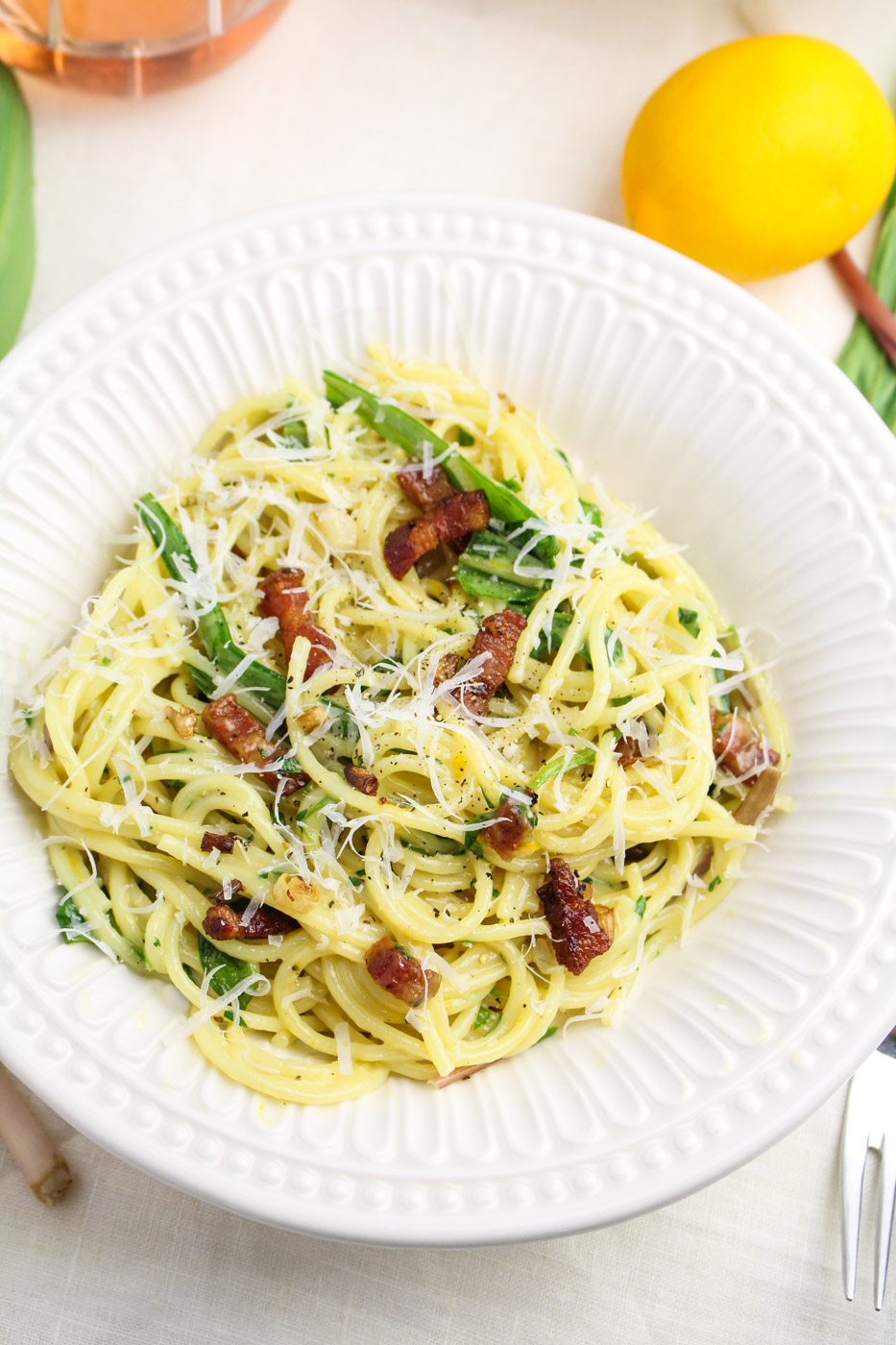 Ramp Carbonara - Katie at the Kitchen Door