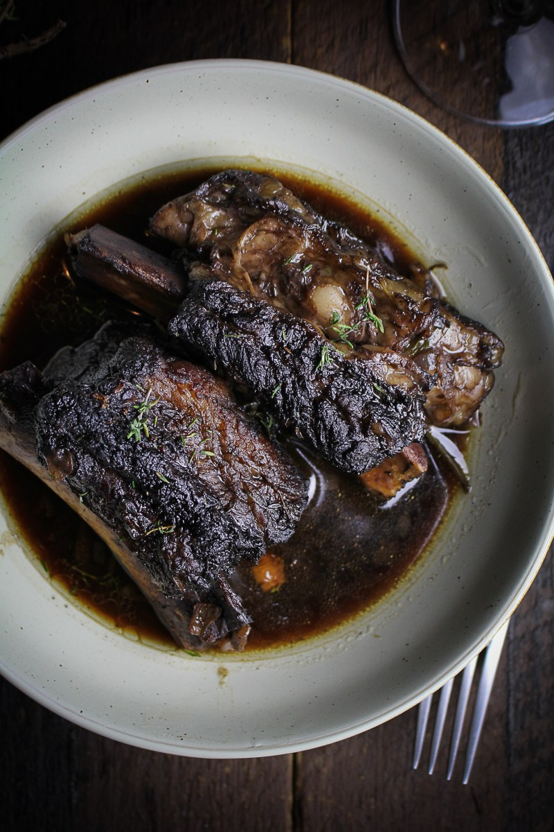 Classic Red Wine-Braised Beef Short Ribs {Katie at the Kitchen Door}
