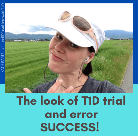 The look of T1D trial and error SUCCESS!