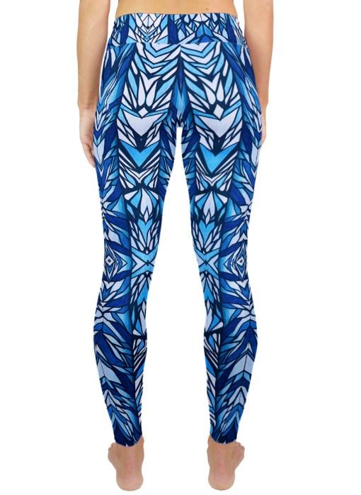 blue pattern legging