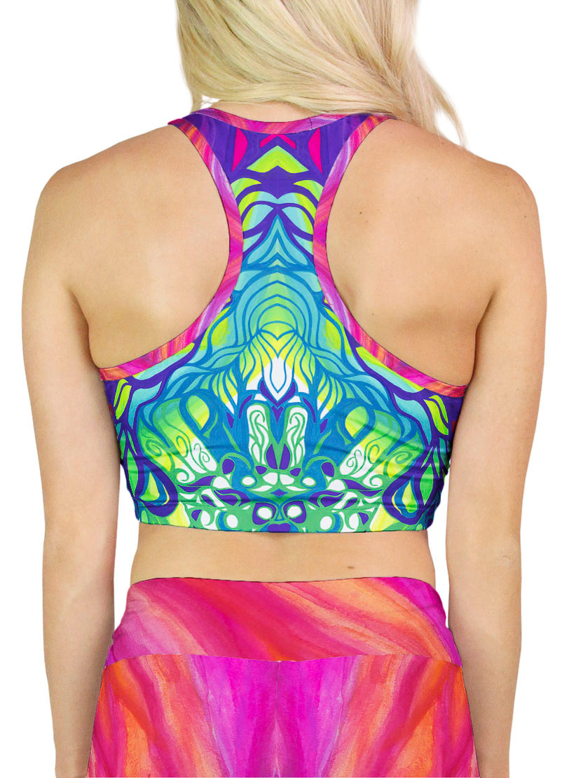 colorful pattern crop top