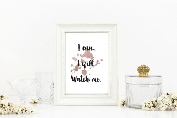 affirmations, i can i will watch me, print, digital download, digital print, social media, katie colella social