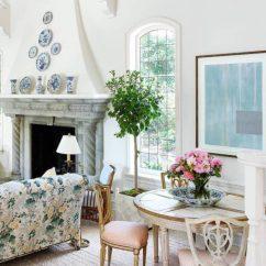 Fl Print Sofa Slipcovers How Can I Make My Bed Mattress More Comfortable Blue Chintz - Home The Honoroak