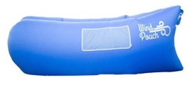 This is a photograph of a WindPouch that I saw people using at Download Festival. It is a lite inflatable hammock and offers a wedge pillow headrest to ease off while lying on your WindPouch hammock