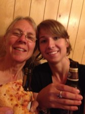 Post show pizza and beer with the mom