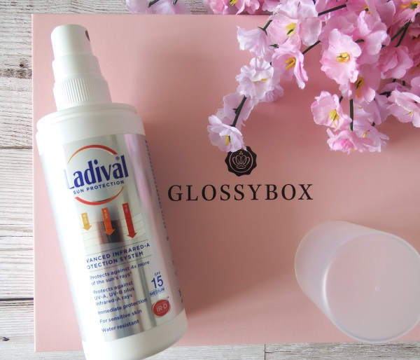 Glossybox June 2016 Review and Unboxing Ladival Sun Protection Spray SPF 15 June Glossybox