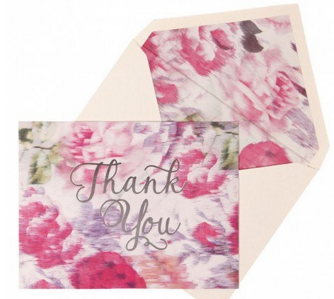 Paperchase Floral wedding thank you cards stationery