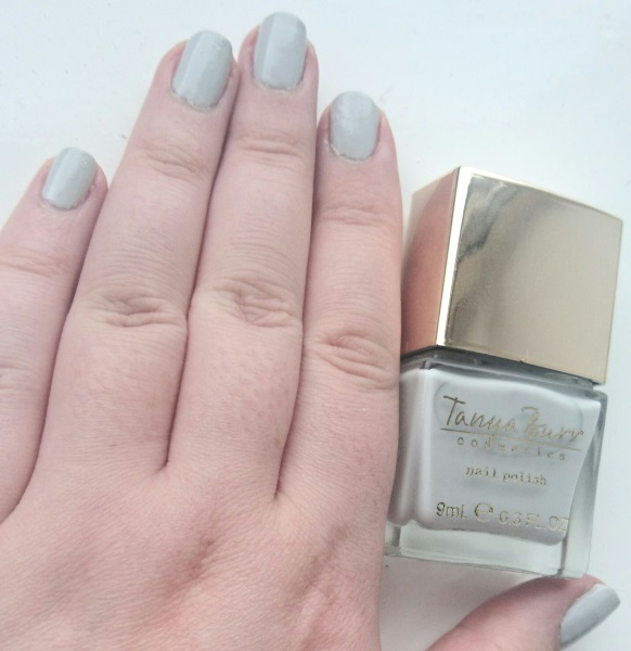 Tanya Burr Duvet Day Nail Polish Review and Swatches Blue Grey Nail Varnish