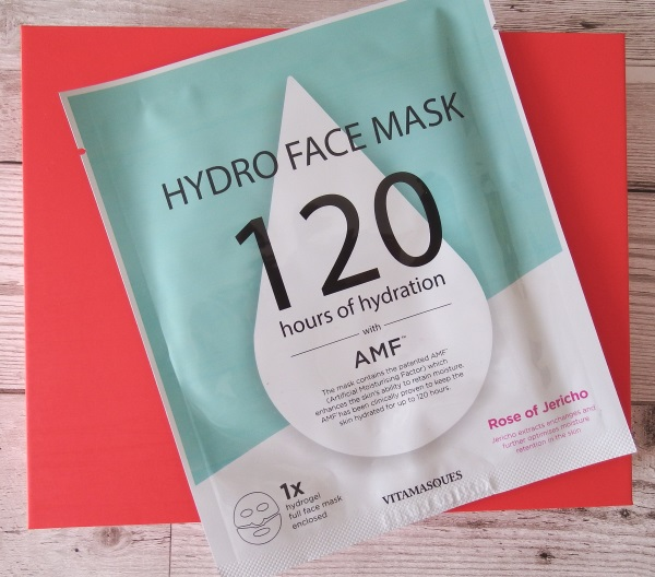 Glossybox September 2016 Review and Unboxing Vitamasques Hydro Face Mask Rose of Jericho