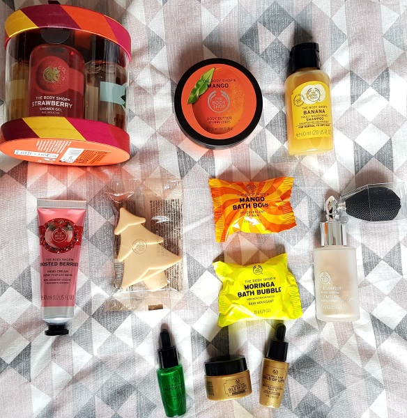 The Body Shop Blogger goody bag contents from the event