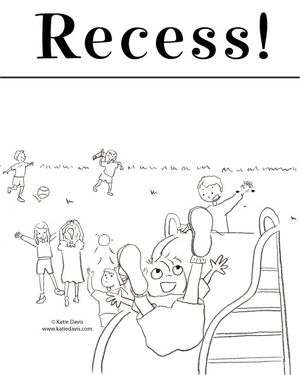 Recess! Coloring Page