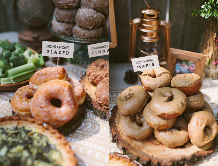 Lacys Camping Themed Baby Shower Brunch with Donut Bar  katie day photography  wedding