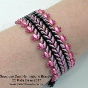 Superduo Duet Herringbone Bracelet