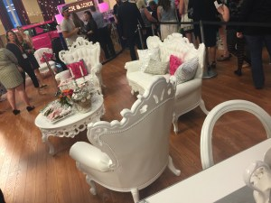I was completely obsessed with how cute these chairs and sofa were in their booth. Love!
