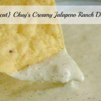 {Copycat} Chuy's Creamy Jalapeno Ranch Dip