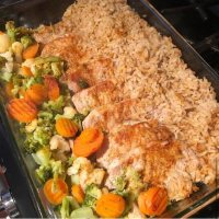 One-Dish Pork Chops Rice and Vegetables