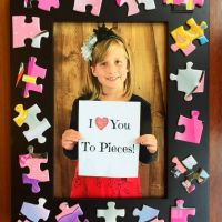 'I Love You To Pieces' Puzzle Frame