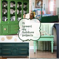 15 {Green} DIY Furniture Projects