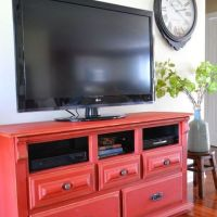 Dresser to Media Center Upcycle