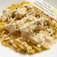 Creamy Olive Garden Italian Chicken for One