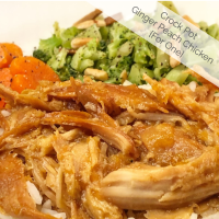Crock Pot Ginger Peach Chicken for One