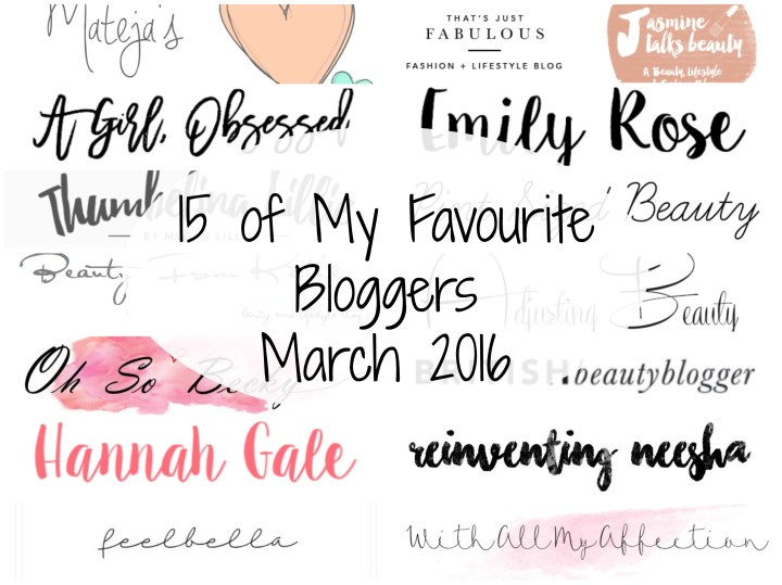 Favourite Bloggers