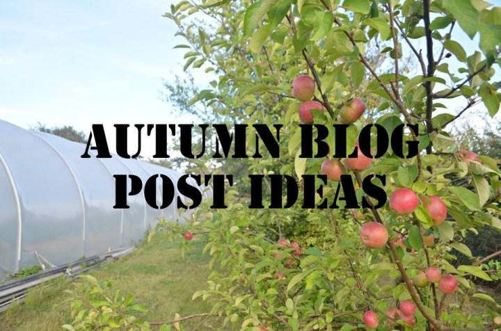 30 Autumn Blog Post Ideas