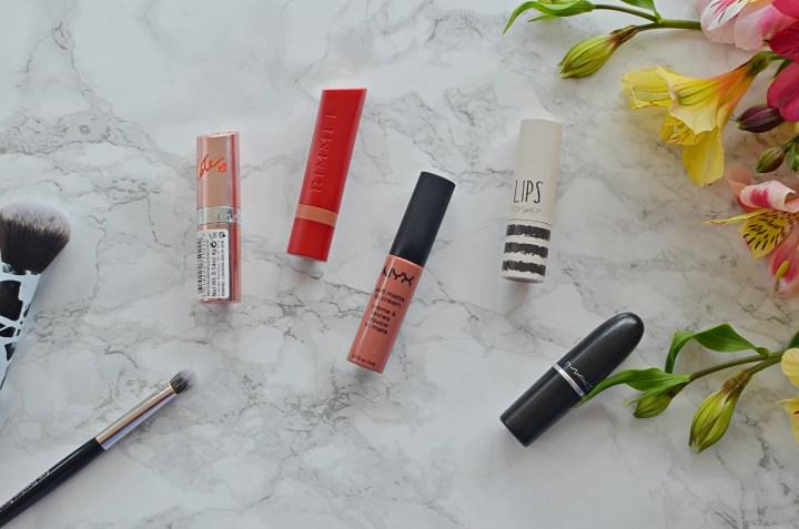 Top 5 Nude/Everyday Lipsticks