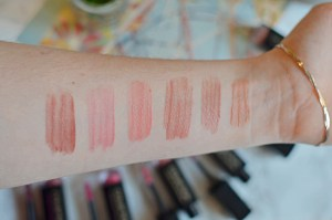 Collection Liquid Lip Colours Swatches
