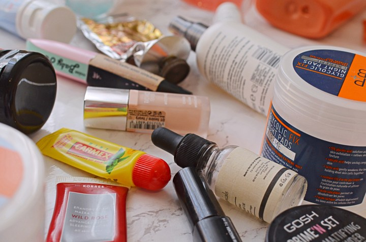 Makeup, Skincare & Haircare Product Empties
