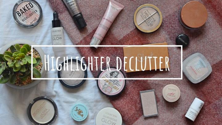 Highlight   Makeup Declutter 18/19