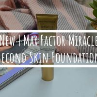New | Max Factor Miracle Second Skin Foundation