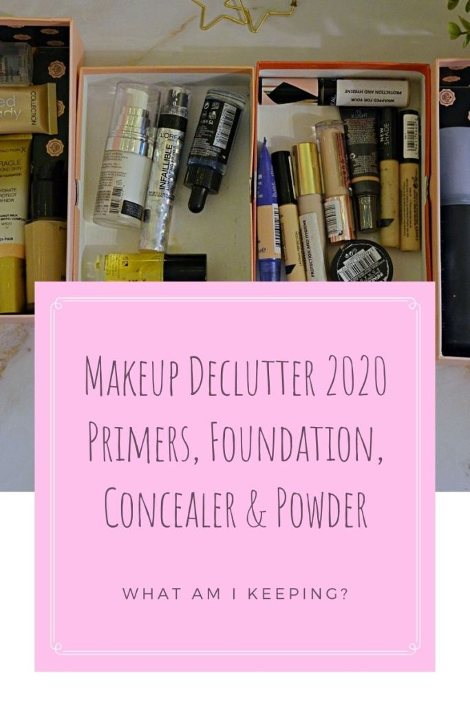 Makeup Declutter - Foundation, Concealer, Primer, Powder