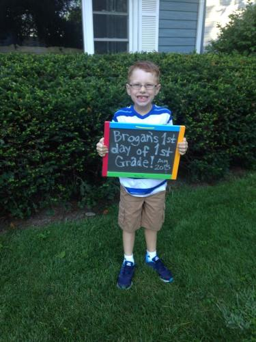 year in review first day of first grade