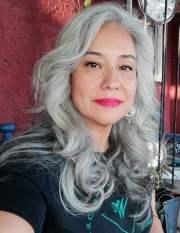 mireya's gorgeous long silver hair