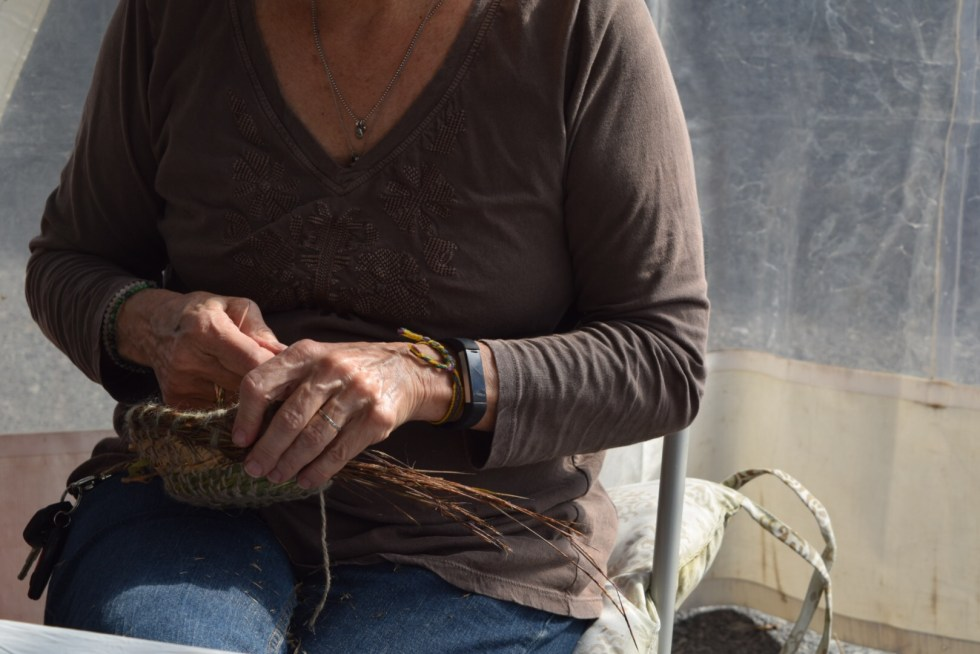 making a coiled basket