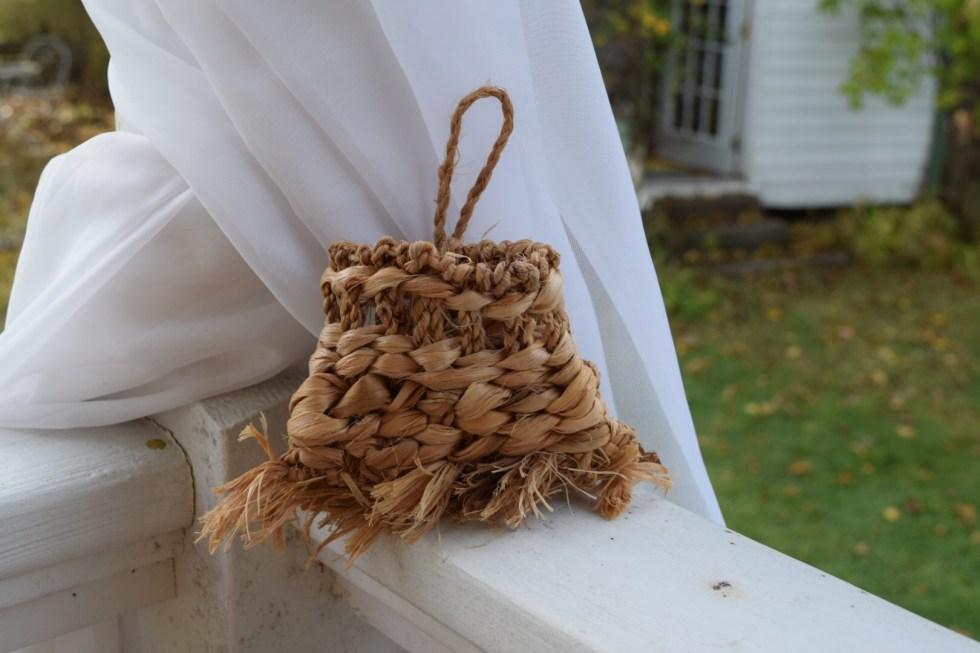 twined mini basswood bag