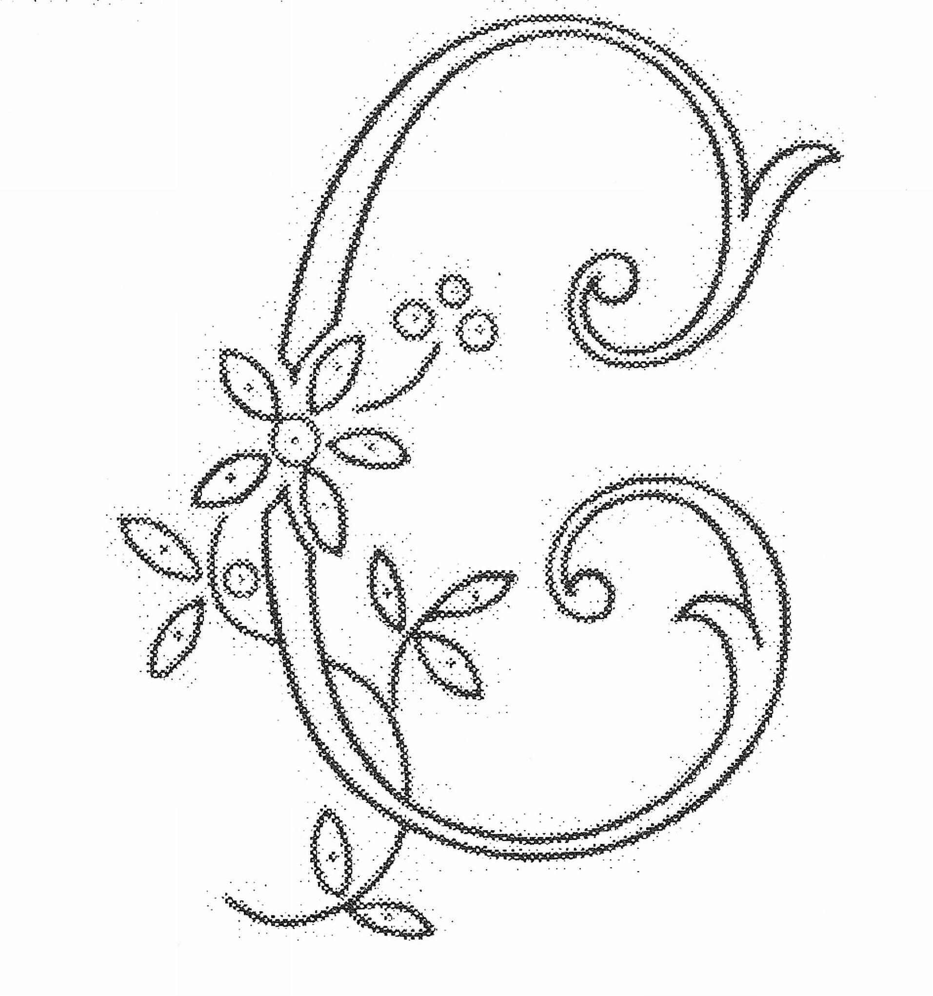 03 04 Monogram Embroidered Letter C