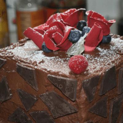 Chocolate and Rose Cake