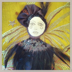 sequins and feathers