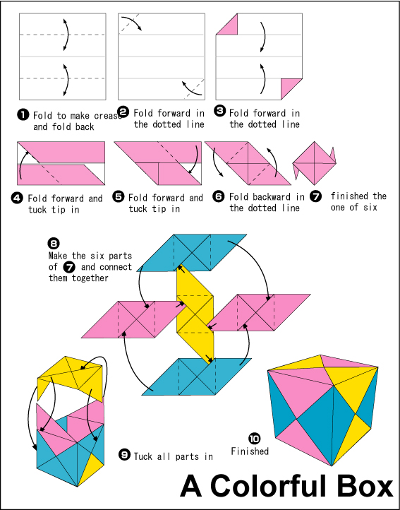 folding origami box diagram franklin electric 1 2 hp motor wiring sonobe cubes | katie kinsman