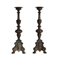 Bronze Pricket Sticks Candle Holders | Katie Leede & Co