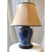 Chinoiserie Blue and White Chinese Ginger Jar Lamp | Katie ...