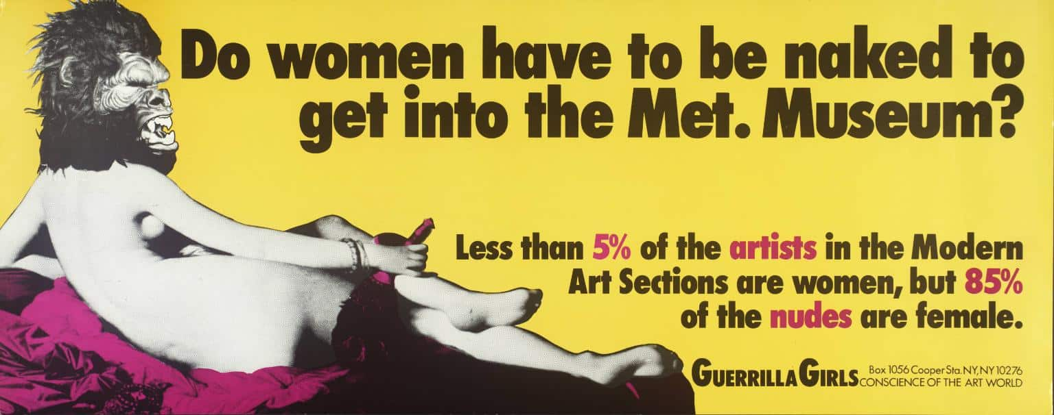 Guerrilla Girls Artwork of a woman in the met museum