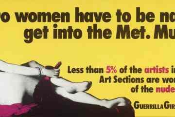 Guerrilla Girls Artwork of a woman in the met museum