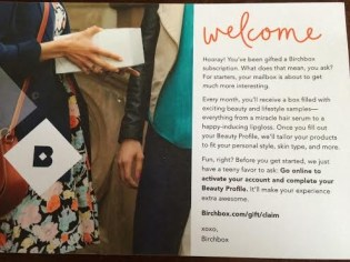 BB Welcome Note