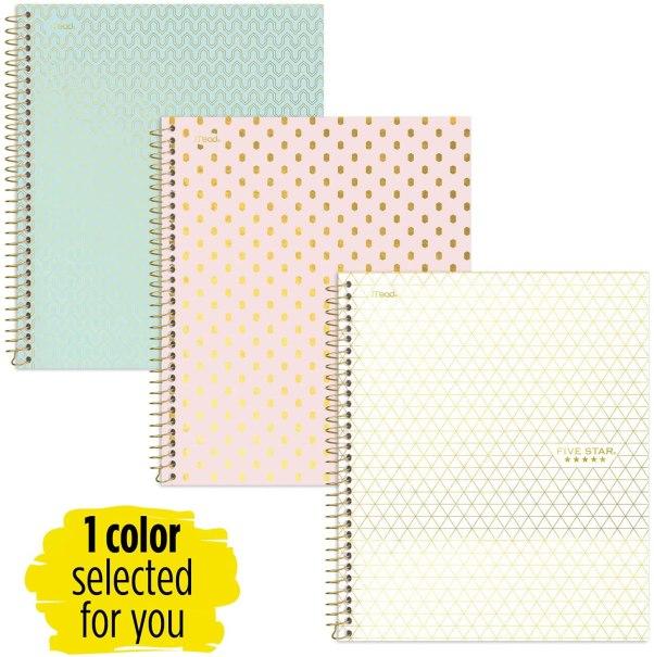 Notebooks: College school supplies