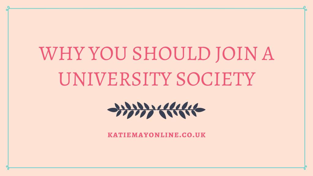 joining a university society