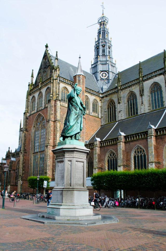 The breathtaking Cathedral of Saint Bavo in Haarlem, the Netherlands