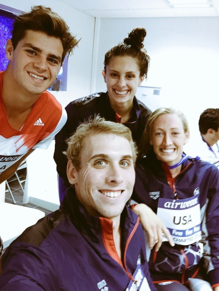 Team USA mixed relay team